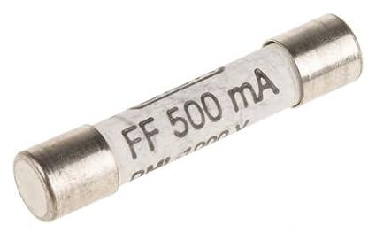 2 Pcs SIBA FF500mA 1000V Very Fast Acting Ceramic Fuse Digital Multimeter Replacement Fuse 6.3 x 32mm 70 172 40 DMI