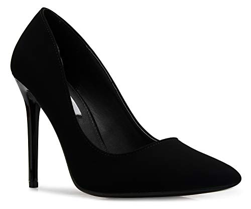 OLIVIA K Women's Classic D'Orsay Closed Toe High Stiletto Heel Pump | Dress, Work, Party HIGH Heeled Pumps | Casual Comfortable