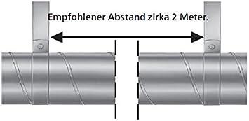 Rohrschellen mit Gummidichtung M8//10 Gewinde Kreuzschlitz Wickelfalzrohr 1 St/ück /Ø 125 mm MKK 18481-003