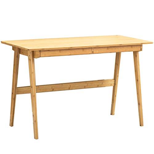 Mesa de Estudio de bambú Mesa de Estudio de Escritorio Cajón de Escritorio (Color : Table(L120cm))