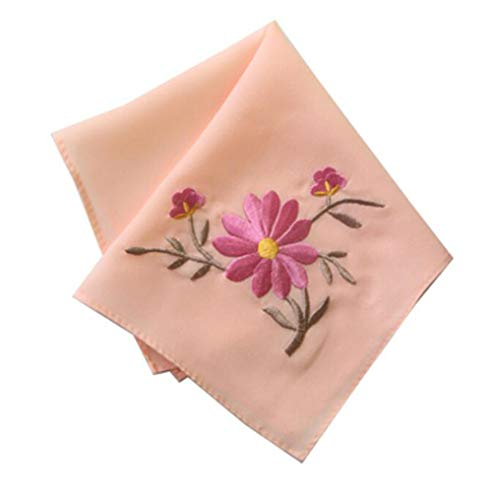 Chinese Handkerchiefs Embroidery (Set of 2 Chinese Style Ladies/Women's Embroidered Handkerchiefs, Pattern-20)