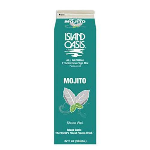 Island Oasis Mojito Beverage Mix, 32 Fluid Ounce -- 12 per case. by ISLAND OASIS