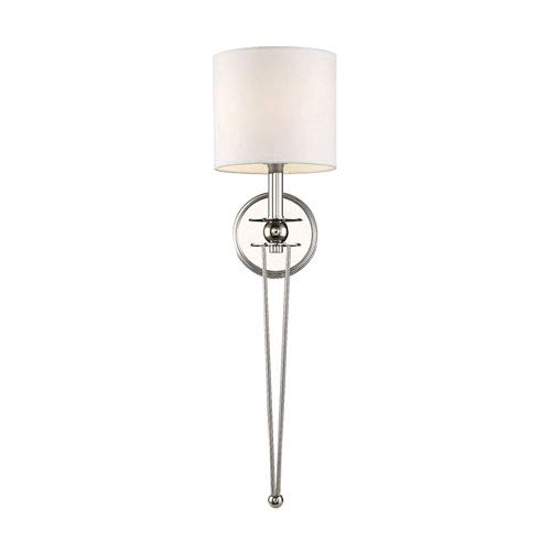 - 251 First Linden Polished Nickel Seven-Inch One-Light Wall Sconce