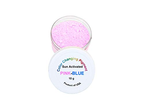 Sun Activated Photochromic Powder Pigment Pink Changing to Violet-Blue When Exposed to UV Light Perfect for Color Changing Slime Goo Nail Polish