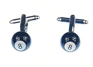 Billardkugel 8 Manschettenknöpfe Miniblings Knöpfemit Box Kugel Billiard + Steg
