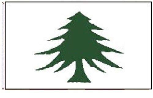 ALBATROS 3 ft x 5 ft Massachusetts Navy 1775-1777 Pine Tree Washington Cruisers Flag Banner for Home and Parades, Official Party, All Weather Indoors Outdoors