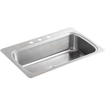 Kohler Single Basin Stainless Steel Topmount Kitchen Sink