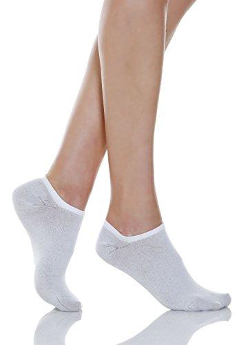 (Relaxsan 550S (White, Size 1-XS) Diabetic low-cut socks with X-Static Silver fiber)