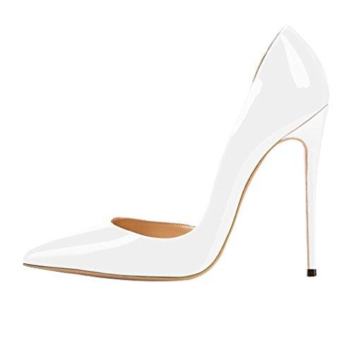 Kengät Hyvät Ja Nansay Suurikokoinen Pumput Naisten Taivas Kaksiosaiset D'orsay Teräväkärkiset Valkoinen Korkokengät Stiletto vUASBFq
