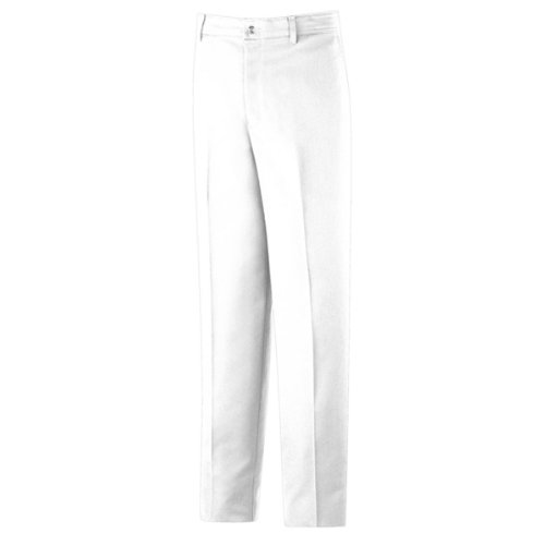 Red Kap Men's' Stain Resistant, Flat Front work Pants, White, 32x30 - White Slacks