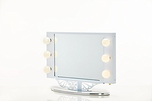 Vanity Girl Hollywood Starlet Lighted Vanity Mirror (Gloss Black, 34