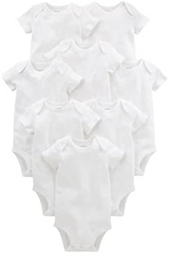 Simple Joys by Carter's Unisex Baby 8-Pack Short-Sleeve Bodysuit