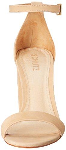 Schutz Women's Enida Dress Sandal, Lightwood, 8.5 M US