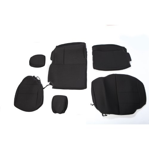 - Rugged Ridge 13264.01 Black Custom Neoprene Rear Seat Cover