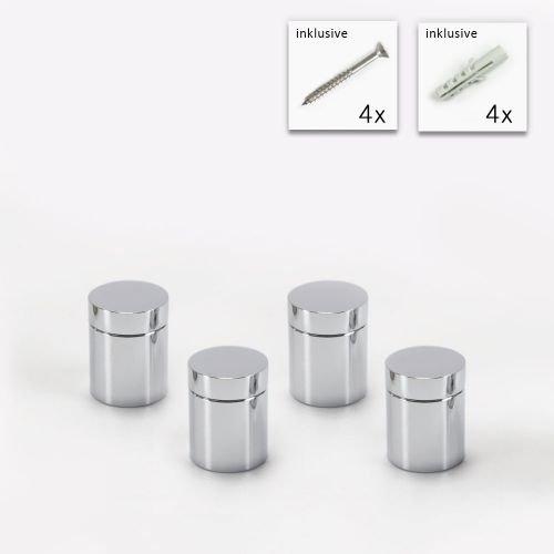 Abstandshalter Schilderbefestigung /Ø 2,5cm Schraubbar Wandabstandshalter Edelstahl Glashalter Schilder Spiegelhalter Modell:4 St/ück 4 cm