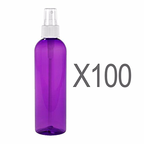 MoYo Natural Labs 4 oz Spray Bottles Fine Mist Empty Travel Containers, BPA Free PET Plastic for Essential Oils and Liquids/Cosmetics (Pack of 100, Purple) by MoYo Natural Labs