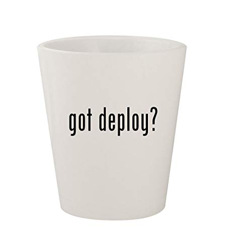 - got deploy? - Ceramic White 1.5oz Shot Glass