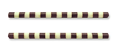 Dark/White Chocolate Striped Mikado Sticks, 4