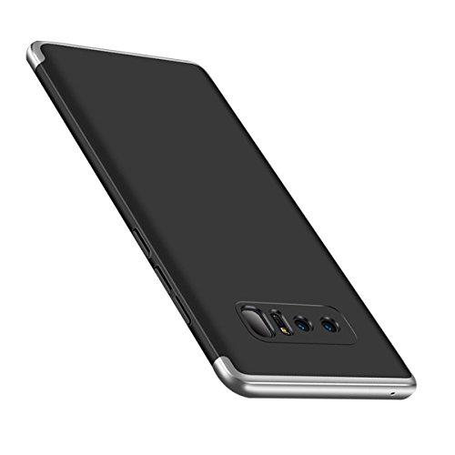 Telephone Anti 8 Protection Note Samsung choc 3 Pc Noir Pour Etui 360° Anti Ultra Slim Hard En Coque Mince Argent scratch Cover Galaxy Rayure Housse Shell Anti 1 Ew04qU0tx