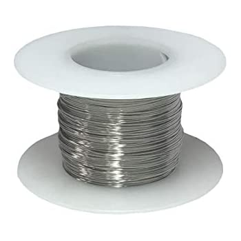 "0.0031/"" Diameter Stainless Steel 316L Wire 250 Feet 40 AWG Gauge"