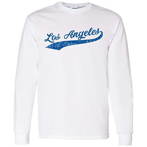UGP Campus Apparel Los Angeles Baseball Script - Hometown Pride, Pitcher Long Sleeve T Shirt - Large - ()