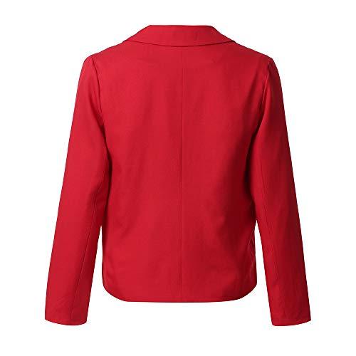 Red Giubbotto Giacca Donne Ragazza Di Moda Autunno Solido Donna Top Inverno Manica Cappotto Colore Allentato Invernale Lunga Parka Delle Caldo Morwind 4SwdRqS