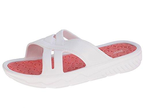 Beppi deslizadores de señoras de la piscina flop zapatillas de playa Blanco