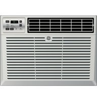 """GE AEM18DT 24"""" Energy Star Electronic Room Air Conditioner with 18 000 BTU Cooling Power Electronic Thermostat 3 Fan Speed Selections One Touch Lift-Out Filter and Remote Control in Light Cool"""