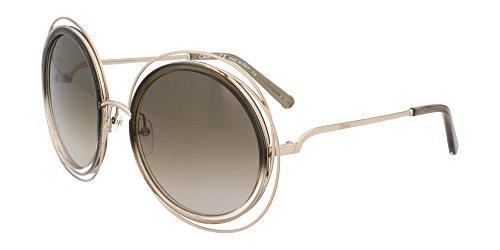 Chloe Women's Carlina Gold/Gradient Khaki Beige 1 - Chloe Carlina Sunglasses