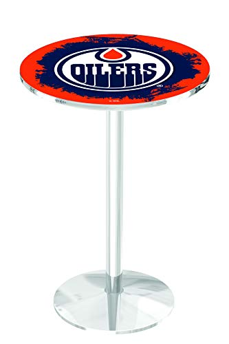 Holland Bar Stool L214 NHL Edmonton Oilers Officially Licensed Pub Table, 28
