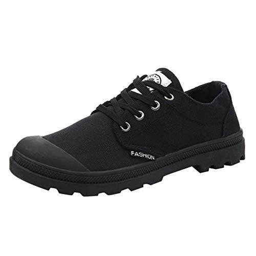(ONLY TOP Casual Shoes for Men and Women Breathable Black High-top Lace-up Canvas Unisex Espadrilles Flat Shoes)