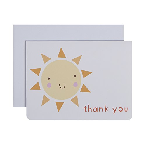 u Notes, Set of 10 Boxed Cards With Envelopes -Sunshine (Sunshine Note)