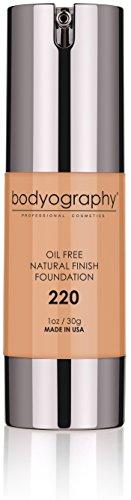 Bodyography Matte Foundation Makeup (Medium Dark #220): Oil-Free Anti-Aging Salon Natural Finish w/ Vitamin E, C, Antioxidants | Vegan, Gluten-Free, Paraben-Free (Finish Kit Perfect Photo)