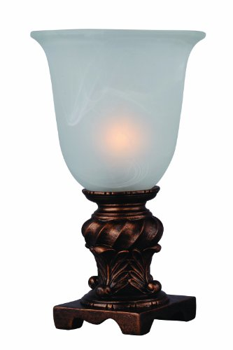 g PMA-1031 Glass Urn Accent Lamp with Frosted Glass Shade, 6