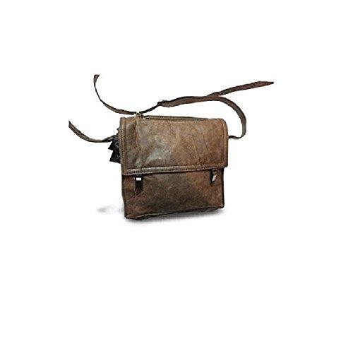 Borsa tracolla uomo pelle artigianato italiano L24xH23xP4 cm mod : terry clips vintage