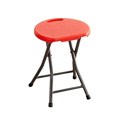 RDMZ Bar Stools Household Folding Stool, Portable Plastic Stool Metal Frame High Stool Modern Minimalist Dining Stool, for Kitchen, Restaurant, Cafe, Bar (Size: 32 29 46cm) Counter Height Swivel Seat