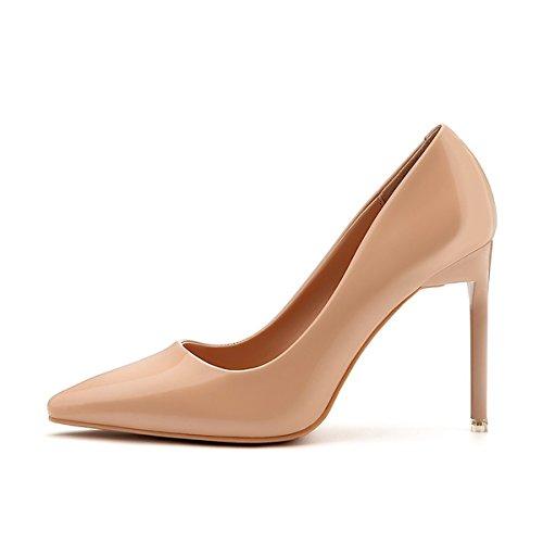 DIMAOL Chaussures Femmes de Réconfort Printemps Automne en Simili Cuir Talon Aiguille Talons Bout Pointu Pour Partie & Soir Rouge Noir Blanc Gris Kaki Kaki,US5.5/EU36/UK3.5/CN35