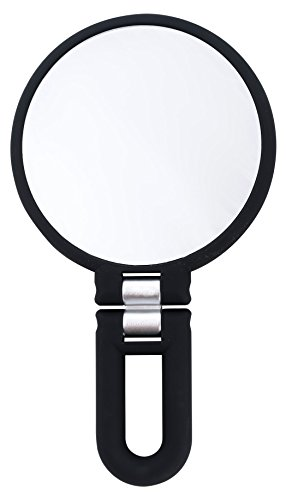 Danielle Creations Black Folding Hand Held Mirror, 15x Magnification by Danielle