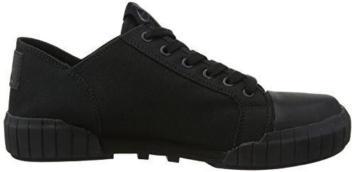 Calvin Klein Jeans Men's Biff Nylon Low-Top Sneakers, Ind 000 Black (Bbk 000)