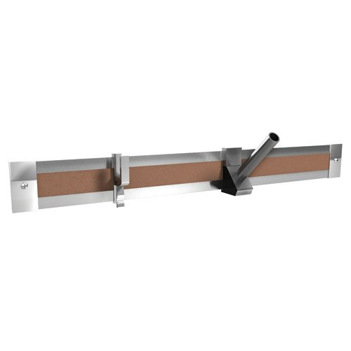 - Ghent 4-Feet Length Aluminum 2-Inch Maprail with Cork Insert, 1 per Carton (MRH4-1)