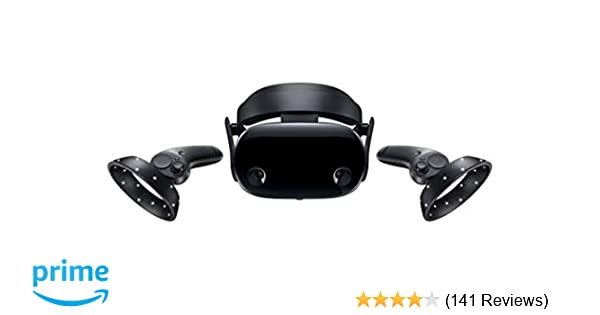Samsung Electronics HMD Odyssey+ Windows Mixed Reality Headset with 2  Wireless Controllers 3 5