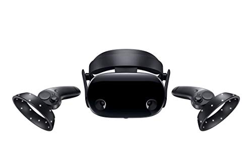 "Samsung Electronics HMD Odyssey+ Windows Mixed Reality Headset with 2 Wireless Controllers 3.5"" Black (XE800ZBA-HC1US)"