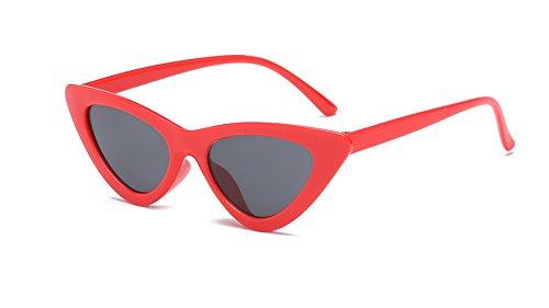 Olikeme Cat Eye Sunglasses for Women, Plastic Frame Vintage Clout Goggles