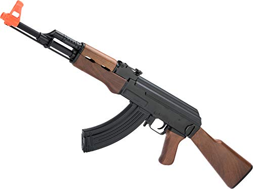 Evike Airsoft - CYMA Sport Airsoft AK47 AEG with Imitation Wood Furniture & Metal Gearbox