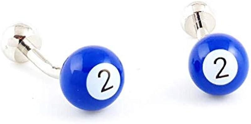LA BELLE MANCHETTE Gemelos de Bola de Billar número 2 de ...