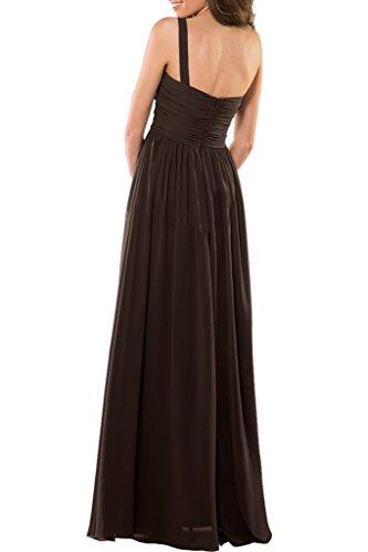 Royaldress Braun Einfach Ein-traeger Brautmutterkleider Abendkleider Partykleider Brautjungfernkleider