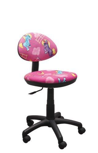 Best For Kids Kinderschreibtischstuhl Kinder-Drehstuhl Super 9 Designs Kinder (Kinder Pony ROSA)