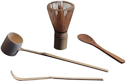 cuchara cuchara batidor de t/é Ausuky Bamboo Matcha Juego de batidor de t/é 4 piezas