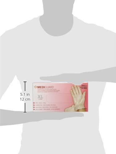 150Count Mediguard Vinyl Synthetic Exam Gloves Medium Clear
