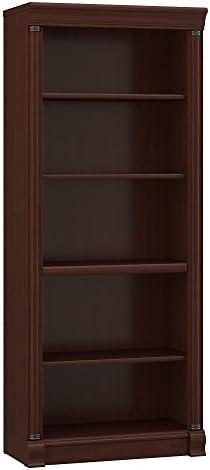 Bush Furniture Birmingham 5 Shelf Bookcase in Harvest Cherry
